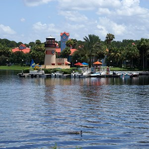 3 of 4: Disney's Caribbean Beach Resort - Barefoot Bay Boat Yard
