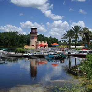 4 of 4: Disney's Caribbean Beach Resort - Barefoot Bay Boat Yard