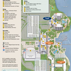 1 of 1: Disney's Contemporary Resort - 2013 Contemporary Resort guide map