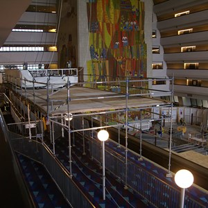 3 of 5: Disney's Contemporary Resort - Contemporary Grand Canyon Concourse ceiling gets a new color