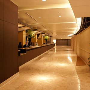 1 of 2: Disney's Contemporary Resort - The new Contemporary Resort front desk
