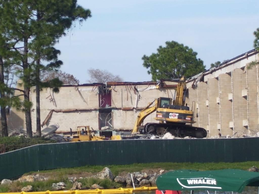 Demolition of the Contemporary North Wing