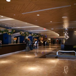 5 of 8: Disney's Contemporary Resort - The Contemporary Resort lobby holiday decorations