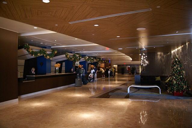 Disney's Contemporary Resort - The Contemporary Resort lobby holiday decorations