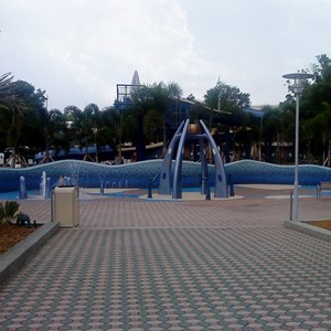 4 of 7: Disney's Contemporary Resort - Contemporary Resort water play area