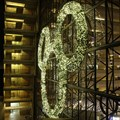 Disney&#39;s Contemporary Resort - The 4 story Mickey shaped wreath on the North side of the Tower