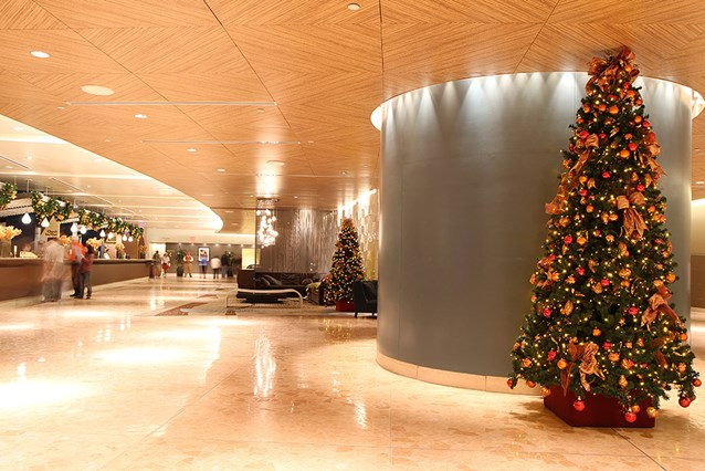 Disney's Contemporary Resort - The Contemporary Resort lobby tree