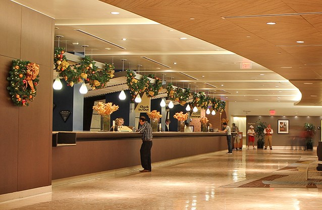 Disney's Contemporary Resort - The Contemporary Resort check-in area decorations