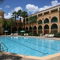 Disney&#39;s Coronado Springs Resort - Casitas quiet pool surrounded by Casitas 4 buildings