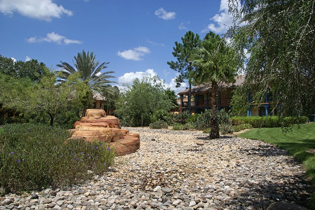 Disney's Coronado Springs Resort - Ranchos area landscaping