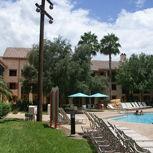 2 of 2: Disney's Coronado Springs Resort - Ranchos building 7b alongside the Ranchos quiet pool