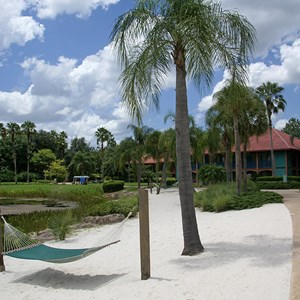 4 of 10: Disney's Coronado Springs Resort - Cabanas beach area
