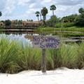 Disney&#39;s Coronado Springs Resort - Cabanas beach area view towards Lago Dorado
