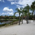 Disney's Coronado Springs Resort - View from outside Cabanas 9b across the beach