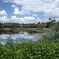 Disney&#39;s Coronado Springs Resort - View of the Cabanas area from the bridge between El Centro and Cabanas 9b