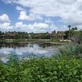 Disney's Coronado Springs Resort - View of the Cabanas area from the bridge between El Centro and Cabanas 9b