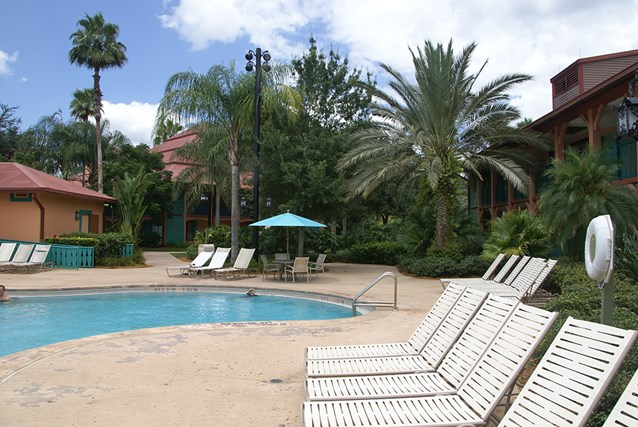 Disney's Coronado Springs Resort - Cabanas building 9a  next to the Cabanas quiet pool