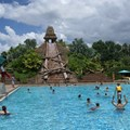 Disney&#39;s Coronado Springs Resort - The 50ft tall Mayan Pyramid of the Lost City of Cibola pool