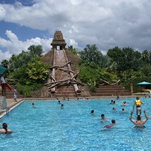 4 of 14: Disney's Coronado Springs Resort - The 50ft tall Mayan Pyramid of the Lost City of Cibola pool