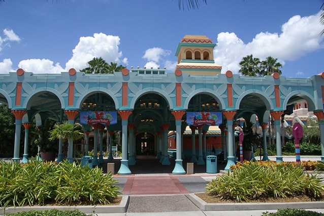 Disney's Coronado Springs Resort - El Centro Main entrance from the parking lot