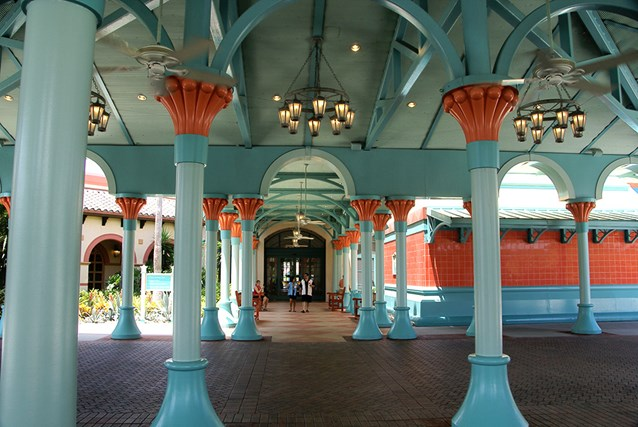 Disney's Coronado Springs Resort - The view from the car and bus arrival area towards El Centro