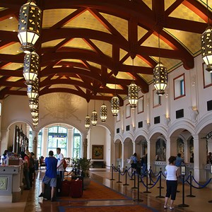 7 of 16: Disney's Coronado Springs Resort - El Centro checkin  registration area
