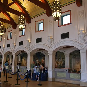 8 of 16: Disney's Coronado Springs Resort - El Centro checkin  registration area