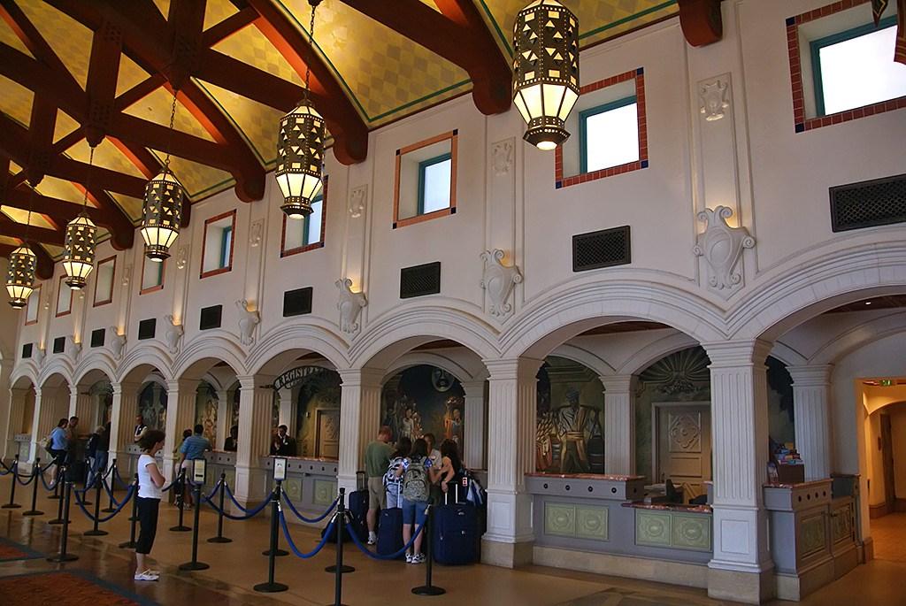 El Centro lobby and registration