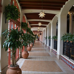 10 of 16: Disney's Coronado Springs Resort - The dining hallway of El Centro viewed from the Maya Grill entrance