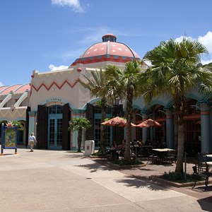 11 of 16: Disney's Coronado Springs Resort - El Centro exterior viewed from the wasterside