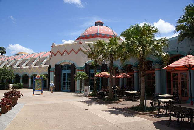 Disney's Coronado Springs Resort - El Centro exterior viewed from the wasterside