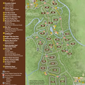 1 of 1: Disney's Fort Wilderness Resort - 2013 Fort Wilderness guide map