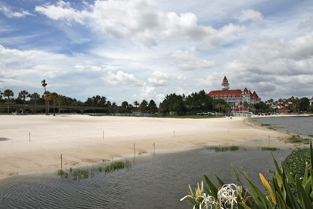 The Villas at Disney's Grand Floridian Resort - The beach that will be the site of the new building