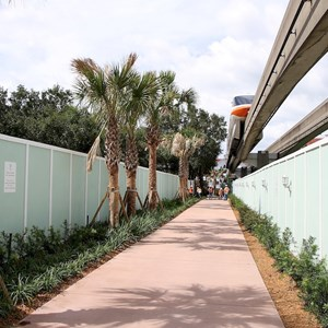 5 of 13: The Villas at Disney's Grand Floridian Resort - Construction walls move to the beach