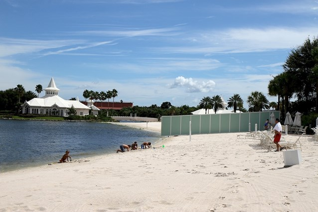 The Villas at Disney's Grand Floridian Resort - The view from the Grand Floridian pool area on the beach looking towards the construction area