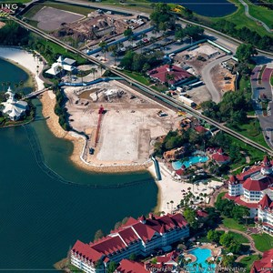 1 of 1: The Villas at Disney's Grand Floridian Resort - Aerial view of construction site
