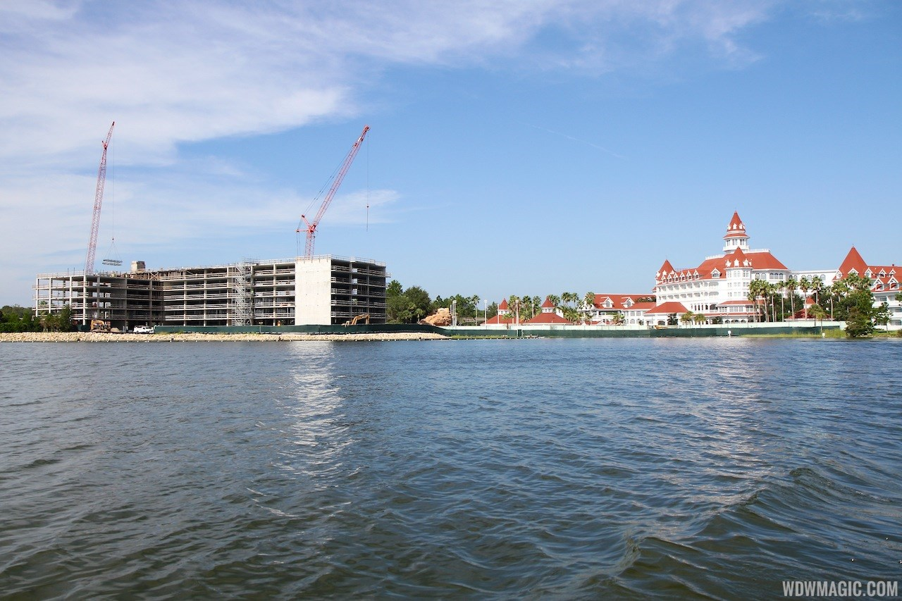 Disney's Grand Floridian DVC construction including aerial