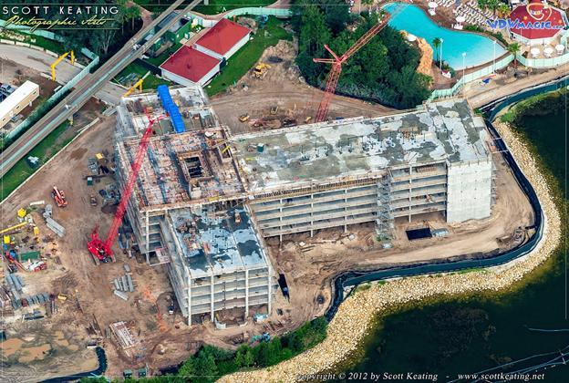 Disney's Grand Floridian DVC construction including aerial