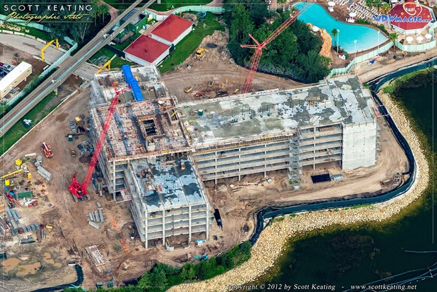 Disney's Grand Floridian DVC - Disney's Grand Floridian DVC aerial view - Copyright 2012 Scott Keating