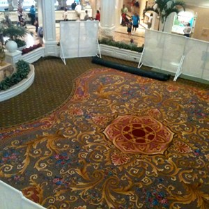 1 of 2: Disney's Grand Floridian Resort and Spa - New lobby carpet