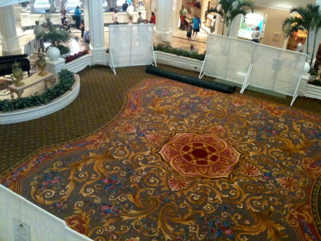 New lobby carpet