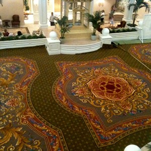 2 of 2: Disney's Grand Floridian Resort and Spa - New lobby carpet