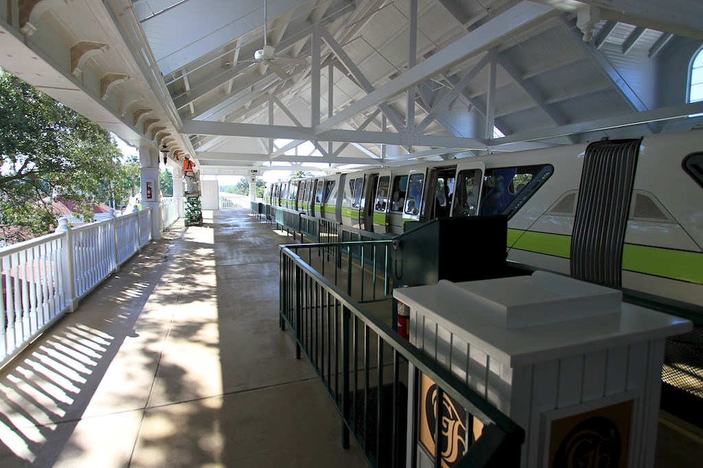Monorail station refurbishment