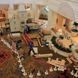 1 of 4: Disney's Grand Floridian Resort and Spa - Grand Floridian Gingerbread House construction