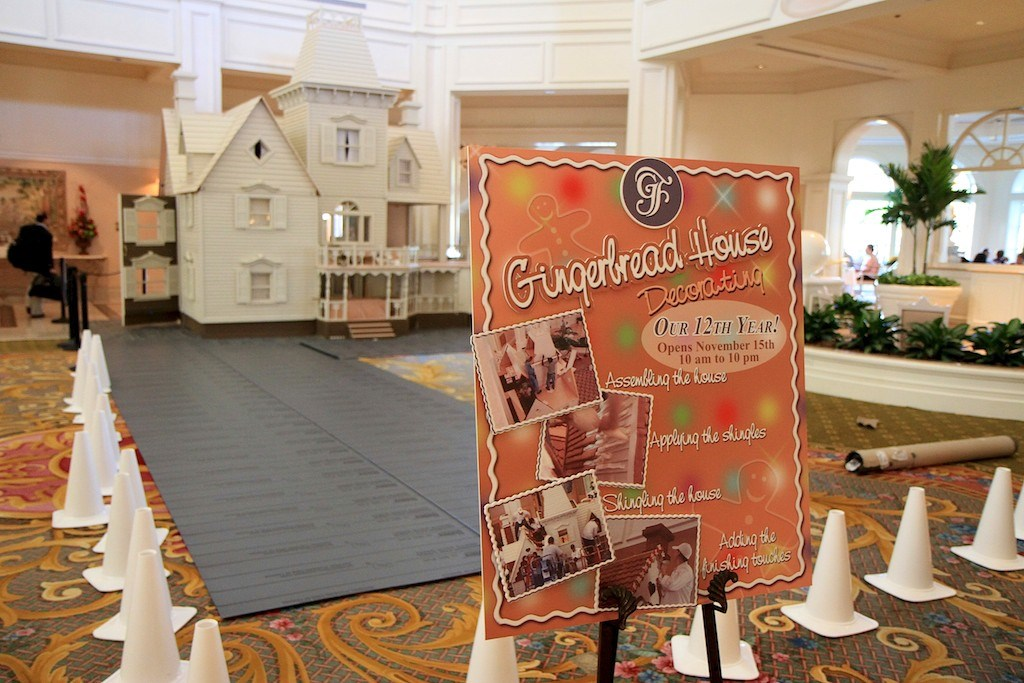 Grand Floridian Gingerbread House construction