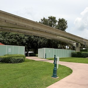 6 of 7: Disney's Grand Floridian Resort and Spa - Walls up at the Grand Floridian - Villas site preparation