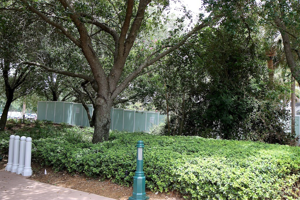 Walls up at the Grand Floridian - Villas site preparation