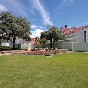 1 of 4: Disney's Grand Floridian Resort and Spa - Grand Floridian courtyard pool refurbishment walls