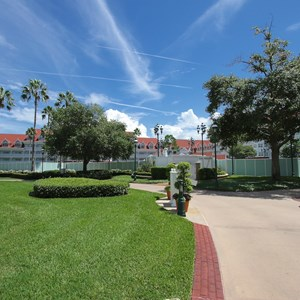 2 of 4: Disney's Grand Floridian Resort and Spa - Grand Floridian courtyard pool refurbishment walls