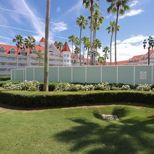 3 of 4: Disney's Grand Floridian Resort and Spa - Grand Floridian courtyard pool refurbishment walls